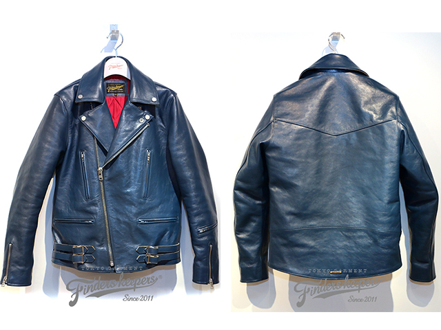 FindersKeepers FK-W.RIDERS JACKET U.K. STYLE BLUE HORSEHIDE