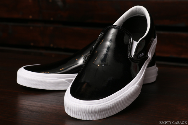 VANS CLASSICS SLIP-ON Patent Leather Black VN0003Z4IWN (Womens)