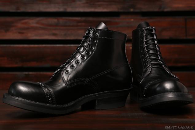[ホワイツ] WHITE'S BOOTS SEMI DRESS Straight Tip Custom Black Calf [#700e Sole]