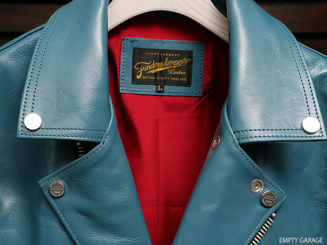Finderskeepers FK-W-RIDERS JACKET UK II TURQUOISE BLUE 40712503 ライダースジャケット