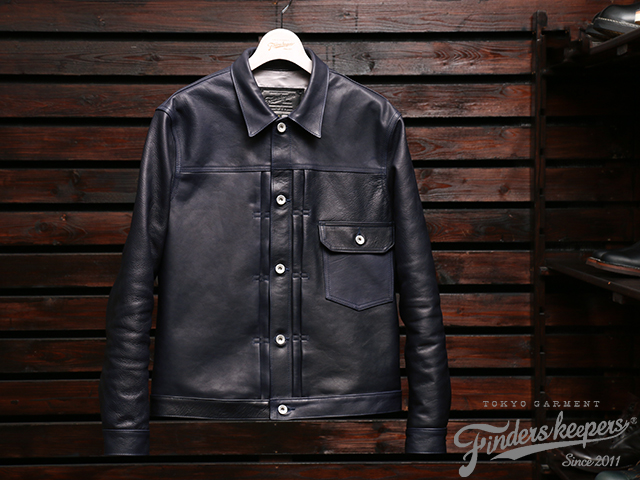 FindersKeepers x 藤原裕(BerBerJin) FK-TYPE ONE 1941 T-BACK Navy HORSEHIDE