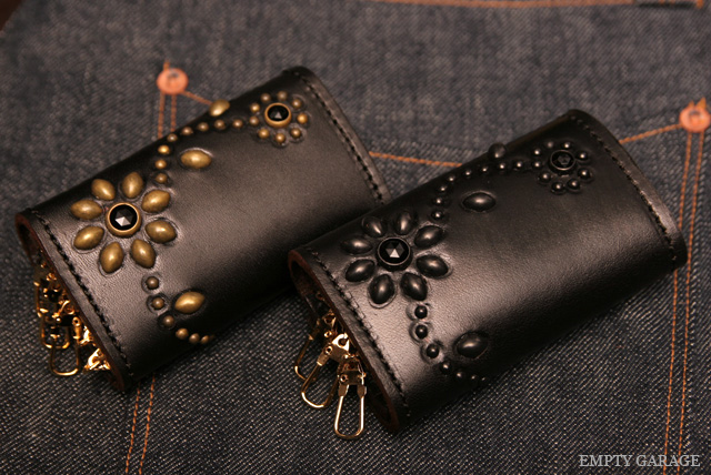 HTC Leather Key Case Flower Black