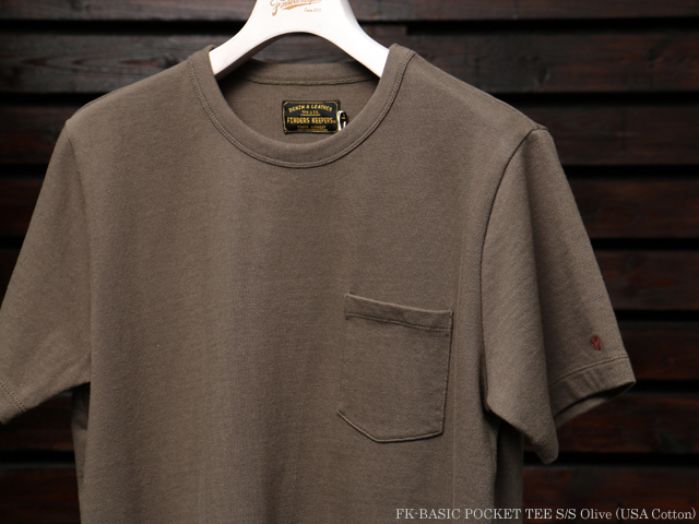 FK-BASIC POCKET TEE S/S Olive (USA Cotton)