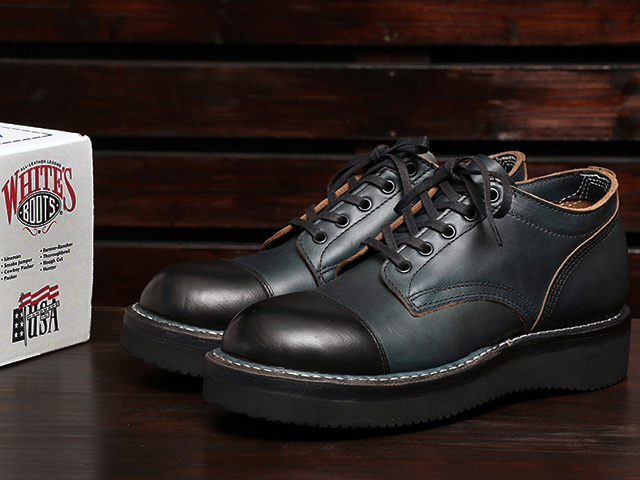 WHITE'S BOOTS OXFORD Northwest Last Navy Chromexcel x BK Toe Cap