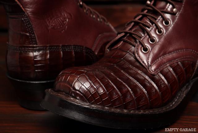 [ホワイツ] WHITE'S BOOTS Classic Lace up Boot C461 Last Brown Caiman [ワニ革]