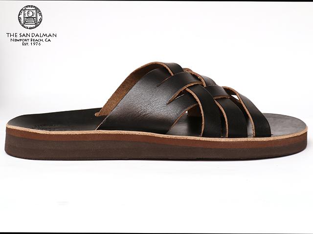 The Sandalman Weave Black Chromexcel