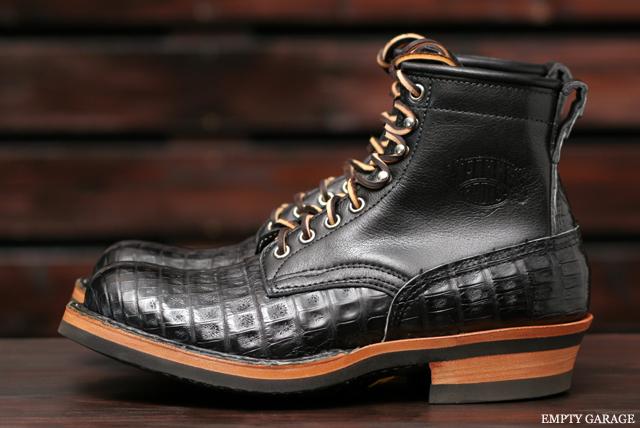 [ホワイツ] WHITE'S BOOTS Classic Lace up Boot C462 Last Black Caiman [ワニ革]