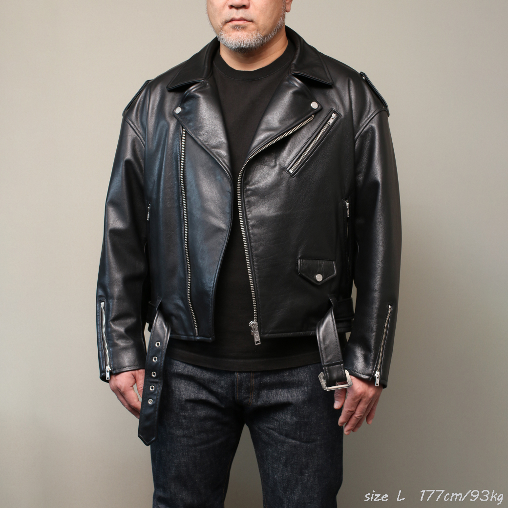 FindersKeepers FK-RIDERS NYC JACKET 4th Black Cowhide