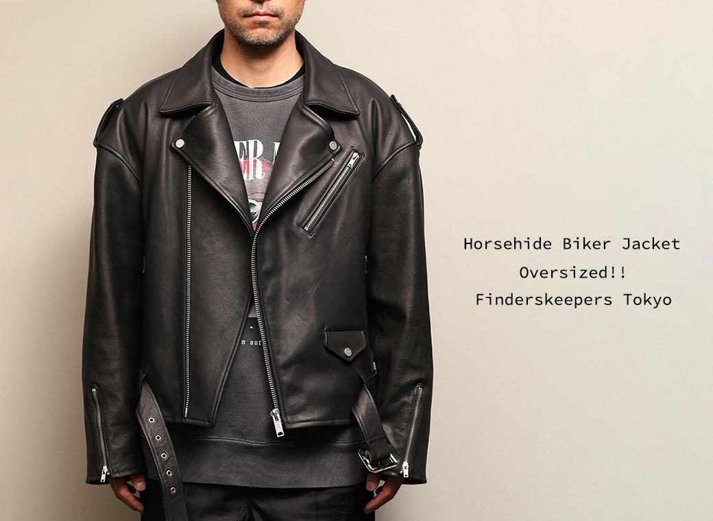 EMPTY GARAGE 限定販売 FindersKeepers FK-RIDERS NYC JACKET 4th Black Cowhide horsehide