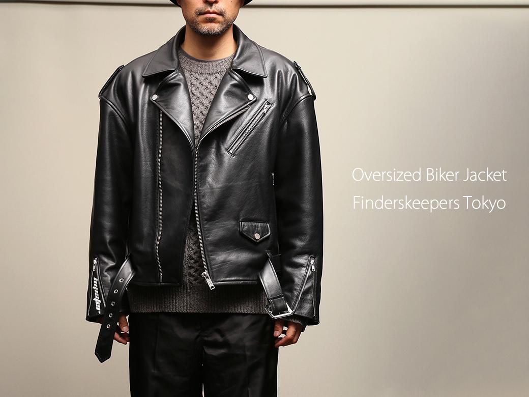 EMPTY GARAGE 限定販売 FindersKeepers FK-RIDERS NYC JACKET 4th Black Cowhide