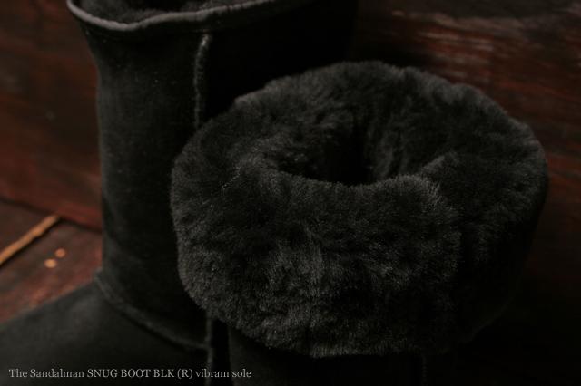 [サンダルマン] The Sandalman SNUG BOOT BLK (R) vibram sole