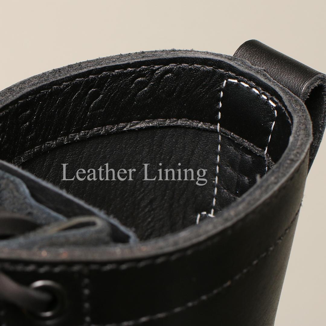 [ホワイツ]  WHITE'S BOOTS 375HC-LUG ファーマーランチャー 8丈 ブラックドレスレザー セミドレス木型