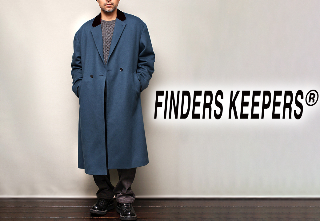 Finderskeepers FK-OVER COAT TEAL 2019AW
