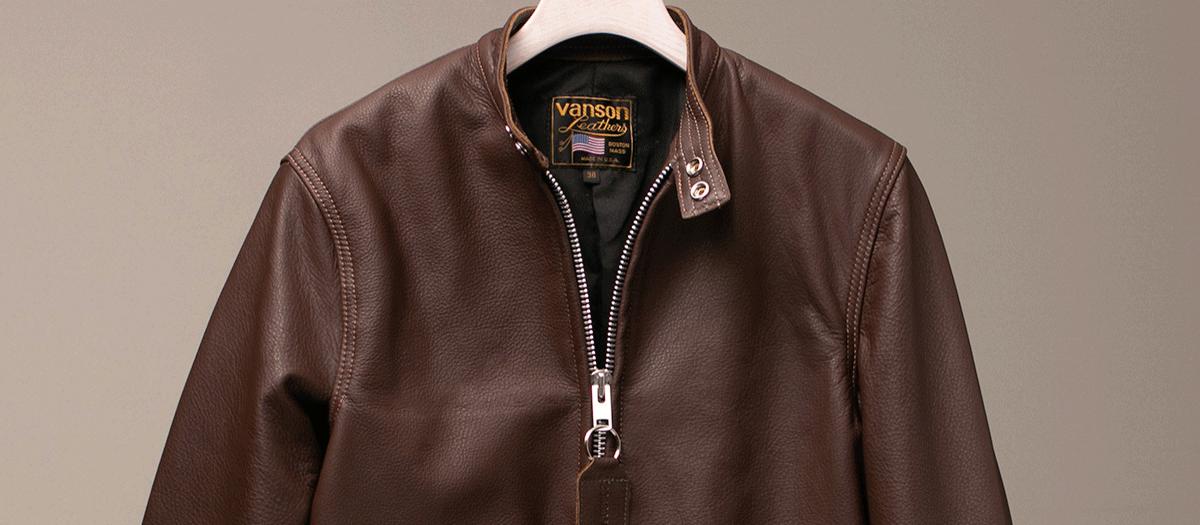 Vanson Special Custom Riders Jacket 「グレインレザー」 チョコレートブラウン