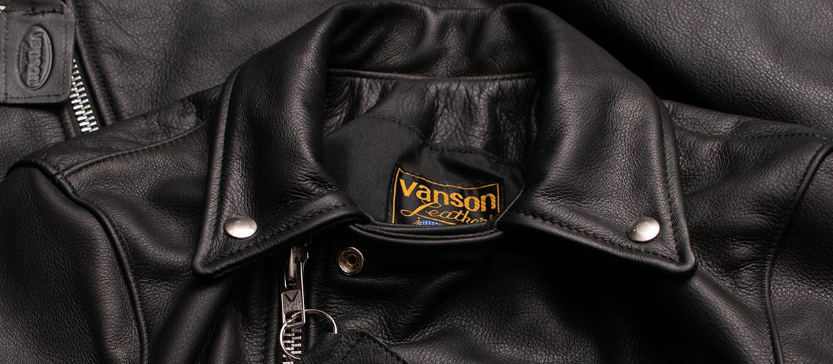 Vanson Special Custom Riders Jacket 「グレインレザー」 ブラック バンソン ライダースジャケット