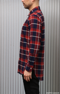 FK-LIGHT WEIGHT LONG FLANEL SHIRT