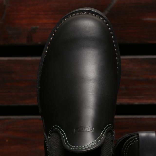 [ウエスコ] WESCO Romeo Boots ロメオ サイドゴア ブーツ ブラックタイレザー