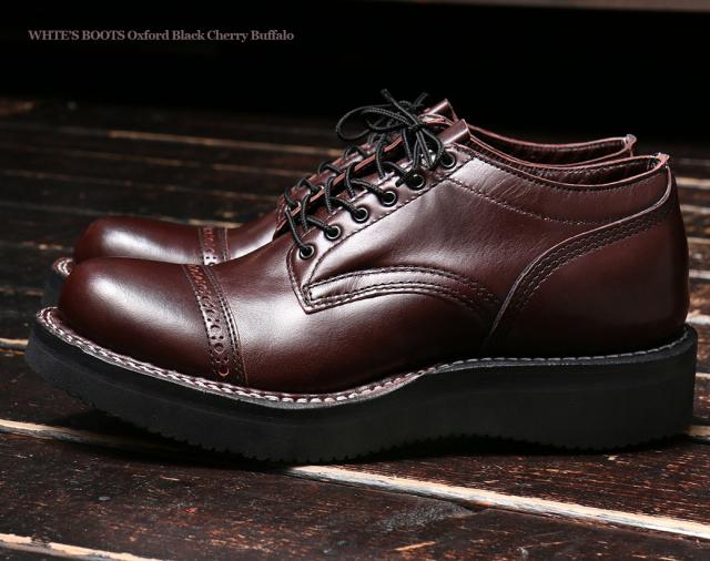 [ホワイツ] WHITE'S BOOTS OXFORD C461 LAST Black Cherry Buffalo Cap Toe