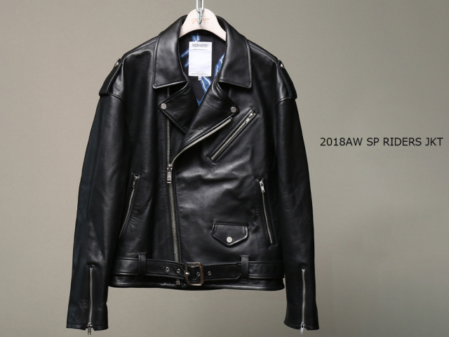 EMPTY GARAGE 別注 FindersKeepers FK-RIDERS NYC JACKET 4th Black Cowhide 2018AW