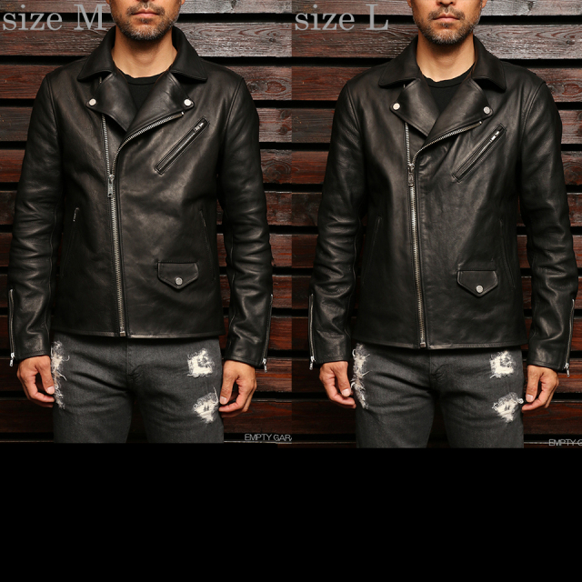 EMPTY GARAGE別注 FindersKeepers FK-RIDERS NYC JACKET Black HORSEHIDE