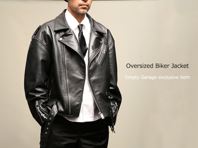 FindersKeepers FK-RIDERS NYC JACKET 6th Black Cowhide オーバーサイズ