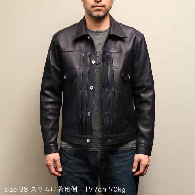 FindersKeepers x Yutaka Fujihara (BerBerJin) FK-TYPE TWO 1955 T-BACK 紺/馬革