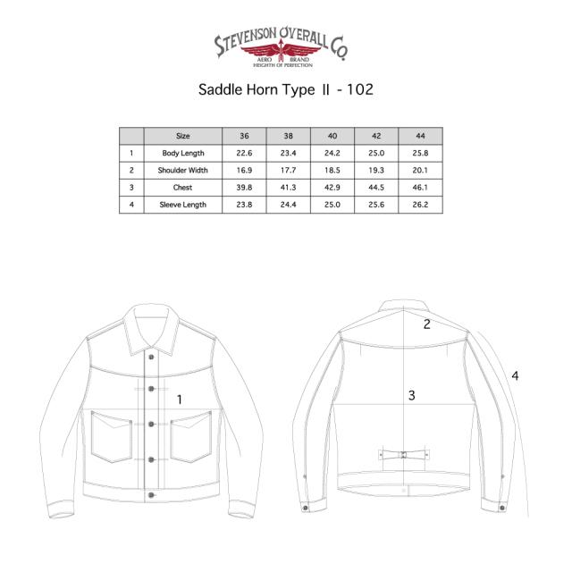 STEVENSON OVERALL Co. STEVENSON OVERALL Co. Saddle Horn Type2 -102 12 oz. Denim Jacket デニムジャケット