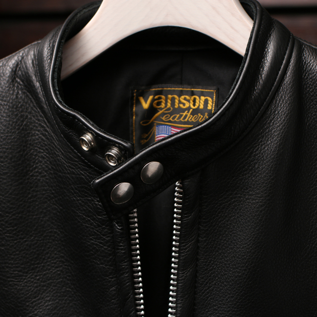 VANSON Leathers バンソン ライダースジャケット ディアスキン カウハイド